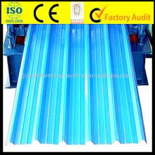 Máquina de formação de rolo de azulejo com arco de 7.5KW, equipamento de formação de metal de 0.15mm-0.8mm