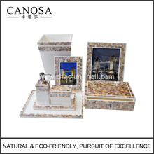 Hotel Bathroom Aceesory Set with Freshwter Shell