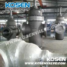 Плоские литой стальной плиты задвижки фланцевые (Z543)