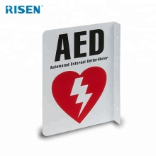 Medical Safety Plastic Emergency Defibrillator AED Sign