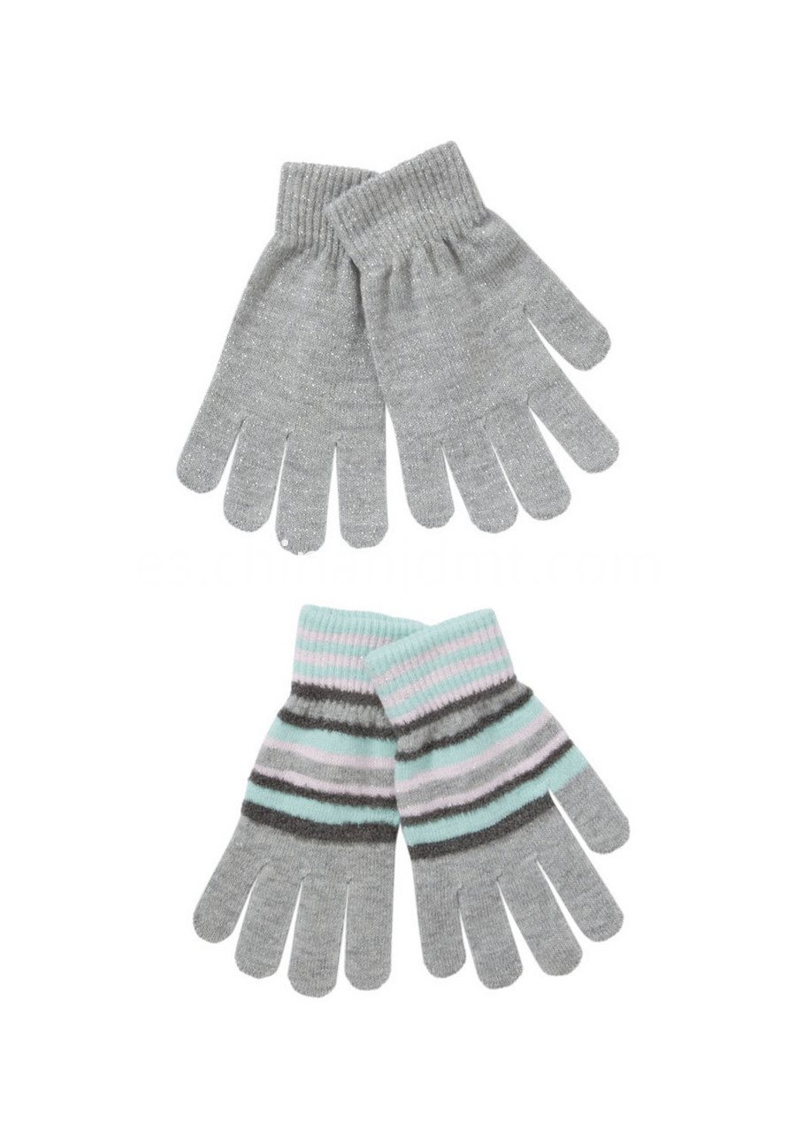 2 Pack Of Plain And Striped Gloves01