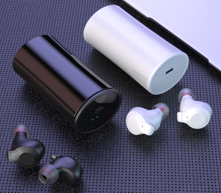 True Wireless Earbuds with Built-in Microphones