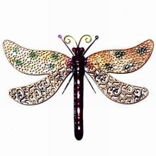 Decoración de jardín de decoración multicolor de metal Dragonfly pared