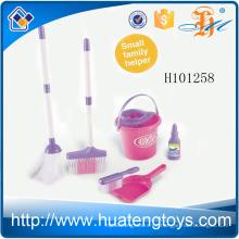H101258 Los pequeños niños preescolares del ayudante fingen las herramientas plásticas de la limpieza de la casa del juguete para la venta