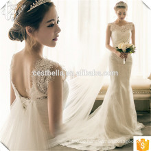 2016 Heiße Verkaufs-elegante weiße Spitze-Nixe-Hochzeits-Kleider preiswert