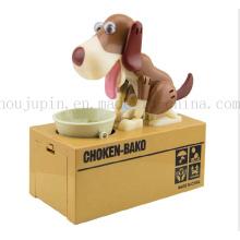 OEM Creative Electric Plastic Saving Box Money Box with Dog Eat Money