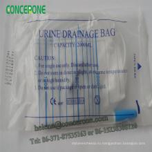 Одноразовые 1000 мл/1500 мл/2000 мл для взрослых мочи мешок с ПЭ упаковке