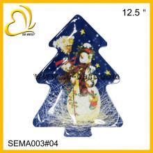 Christmas tree shape melamine plate, tree shape plate