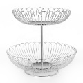 Novel 2 Tier Stainless Steel Wire Basket