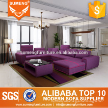 SUMENG high end reclining fabric recliner sofa in purple