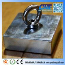 N52 NdFeB F75X75X25mm mit Super Hook Permanent Magnet