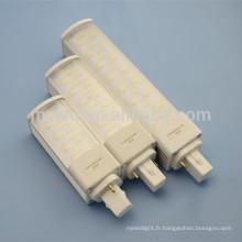 Economie d'énergie AC85-265v haute efficacité conduit led léger 6w g23 g24 led pl lampe
