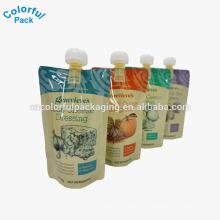 malote do bico do líquido / suco / malote reusável / saco do bico de água da garrafa plástica