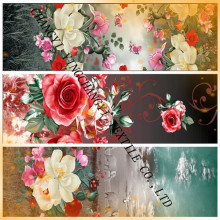 Helle Blume Entwürfe 50-140g print Stoff