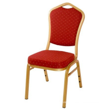 Banquet Dining Chair Cheap and High Quality Golden Frame Steel Molded Foam Stackable Furniture