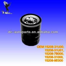 Filtro de óleo de carro para Nissan 15208-31U00