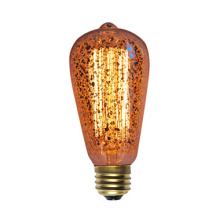 St58 Golden Vintage Edison Bulb with 19 Anchors