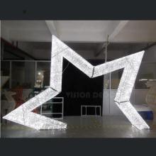 Lumières acryliques de motif d'étoile d'acrylique de Noël 3D LED
