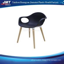 Plastic seat metal leg garden Chair