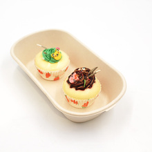 Rectangular Eco Friendly Sugarcane Bagasse Catering Taking Out Food Box Container For Restaurant