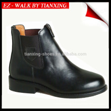 Elastic sided Genuine leather riding boots