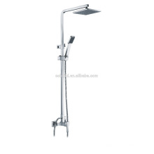 KDS-20 professional black rubber square overhead shower bathroom hardware solid brass luxury modern shower sprinklers set
