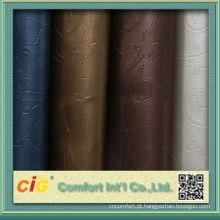 Moda novo design colorido impressão e assorted vácuo em relevo pvc esponja couros para sacos e sofá