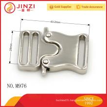 Zinc alloy custom nickle color high end bag buckle lock