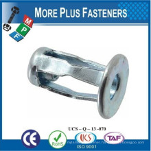 Made in Taiwan Jack Nut Solid Brass Pack Stainless Steel Zinc Grip