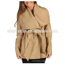 usine personnaliser et en gros coréen dames manteau de laine