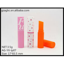 New Arrival Plastic Round Lipstick Tube AG-YX-lp07, Cup Size 10.8mm, AGPM Cosmetic Packaging , Custom colors/Logo