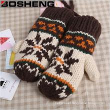 Women′s Super Thick Warm Knitted Gloves Mitten