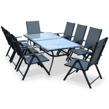 8 Piece Aluminum Teslin Garden Outdoor Dining Set