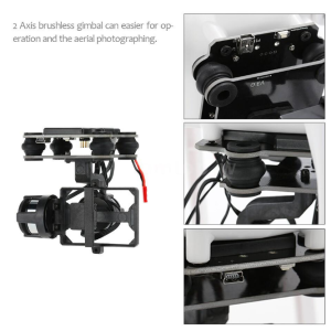 Drone Parts 2 Axis Brushless Gimbal Untuk Gopro