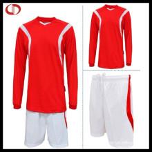 Kundenspezifische lange Hülse Fußball Jersey Uniform für Männer