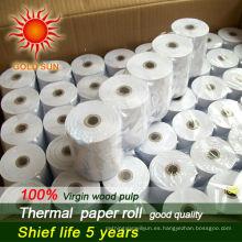 rollo de papel carbón térmico