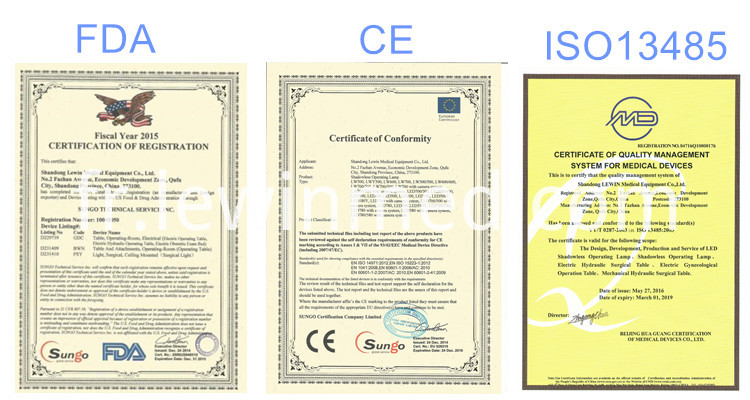 Approved with CE, FDA, ISO etc certificate
