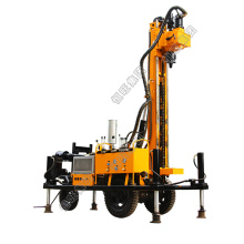 pneumatic drilling rig dth hammer and  mud pump rotary borehole drilling machine