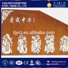 placa de aço de intemperismo corten A corten B para decoração usada