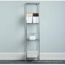 Aço inoxidável banheiro canto armazenamento rack de arame (cj3535160a4c)