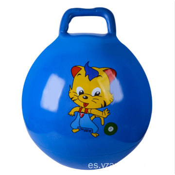 Custom Logo PVC Inflatable Space Hopper Ball With Handle