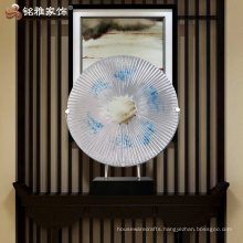 Interior round decoration abstract sculpture for office