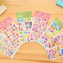 Kinder Aufkleber Werbegeschenke Niedliche Schwamm Puffy Foam Aufkleber Für Kinder, Benutzerdefinierte Kinder Puffy Aufkleber