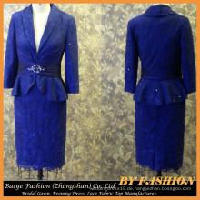 Lady Dress Formal Blue Mutter der Braut Kleid Bilder Casual Kleid für Lady BYE-14101