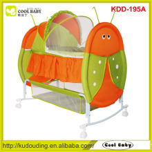 Factory NEW Baby Furniture Cute Insect Design Portable Rocking Baby Cradle for Newborn baby Butterfly Mosquito Net Swing Bed