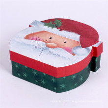 Round empty decorative christmas gift box