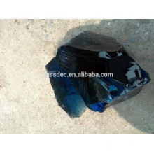 Кобальтовый голубой шлак Glass Rock в Габионе