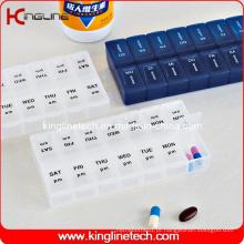 Caixa de comprimidos de plástico com 14 casos (KL-9059)