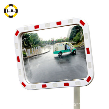 Elliptic reflective convex mirror eliminate blind spots aviod traffic accident alert people