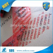 Hecho en China impermeable impresa vacía cinta adhesiva adhesivo cinta de seguridad personalizada